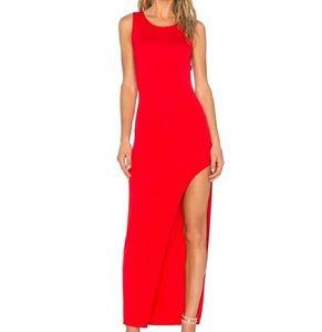 Lovers + Friends Red Asymmetrical Maxi Dress
